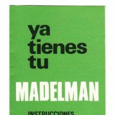 Madelman: INSTRUCCIONES ORIGINALES COLOR VERDE VERDES MADELMAN 1976. Lote 28264734