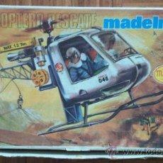 Madelman: CAJA VACIA HELICOPTERO RESCATE MADELMAN. Lote 28338877