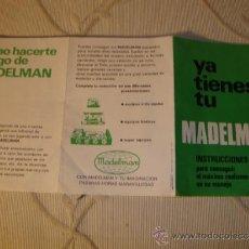 Madelman: ¡LOS ORIGINALES! CATALOGO VERDE YA TIENES TU MADELMAN TODO ORIGINAL MADEL S.A, AÑOS 70/80. NO COPIAS. Lote 35375800