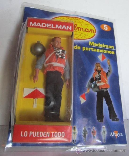 MADELMAN ALTAYA, MARINERO PORTAAVIONES Nº 5, CON FASCICULOS, EN BLISTER. CC (Juguetes - Figuras de Acción - Madelman)
