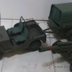 Madelman: MADELMAN PACK JEEP, REMOLQUE Y CAÑON. Lote 39986748