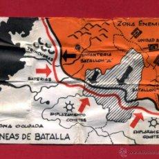 Madelman: ACCESORIO MADELMAN , PLANO LINEAS DE BATALLA , ANTIGUO , ORIGINAL. Lote 39419625