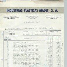 Madelman: MADELMAN,FACTURA DE 1959,RARÍSIMA,MADRID,BUEN DOCUMENTO,MADEL,LA BAÑEZA,EXCEPCIONAL. Lote 44895292