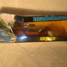 Madelman: ¡LOS ORIGINALES! MADELMAN ORIGINAL MADEL S.A AÑOS 70/80. OESTE CANOA CAYUCO EN CAJA REF. 715. Lote 48862044
