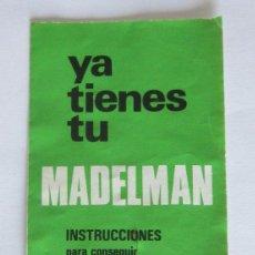 Madelman: CATALOGO INSTRUCCIONES MADELMAN ORIGINAL. CC. Lote 51659150