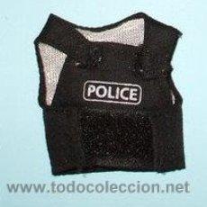 Madelman: LTDI. REF. 4PDJ117. MATERIAL MADELMAN PDJ.CHALECO POLICIA NEGRO CON LETRAS. Lote 121592354
