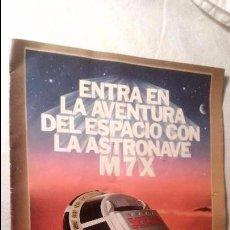 Madelman: ¡LOS ORIGINALES! MADELMAN CATÁLOGO POSTER GRANDE MADEL SA ASTRONAVE M 7 X M7X, AÑO 1981.. Lote 57681266