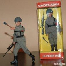 Madelman: MADELMAN MDE IIWW SEGUNDA GUERRA MUNDIAL SOLDADO ALEMAN III REICH EN CAJA. Lote 133796275