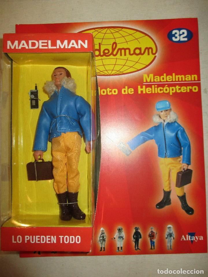 MADELMAN PILOTO DE HELICOPTERO CON SU FASCICULO Y CAJA NUEVO (Juguetes - Figuras de Acción - Madelman)