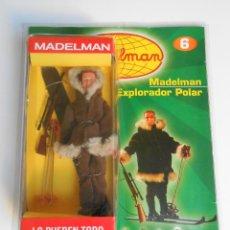 Madelman: MADELMAN ALTAYA POLAR ESQUIADOR MONTAÑA EN SU CAJA CON FASCICULO ALFREEDOM MADEL FIGURE. Lote 125037923