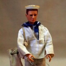 Madelman - MADELMAN, ORIGINAL, MARINERO, OJOS PINTADOS, 1ª PRIMERA GENERACION, SIN INSCRIPCION ESPALDA, 1970s # - 103912339
