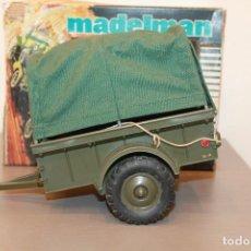 Madelman: MADELMAN, REMOLQUE CAMPAÑA. REF. 713. EN CAJA ORIGINAL. MADEL. MADE IN SPAIN. AÑOS 70. Lote 105101147
