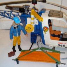 Madelman: HELICOPTERO DE RESCATE CON PILOTO MADELMAN ORIGINAL. Lote 108430663