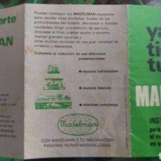 Madelman: MADELMAN.INSTRUCCIONES ORIGINAL.COMO SE VE.. Lote 110739120