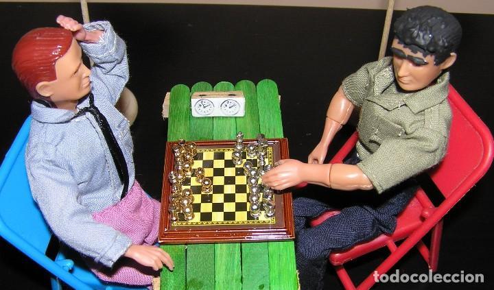 Madelman: Madelman diorama. Partida de ajedrez Spasski-Fischer. Guerra Fria. - Foto 3 - 136109778