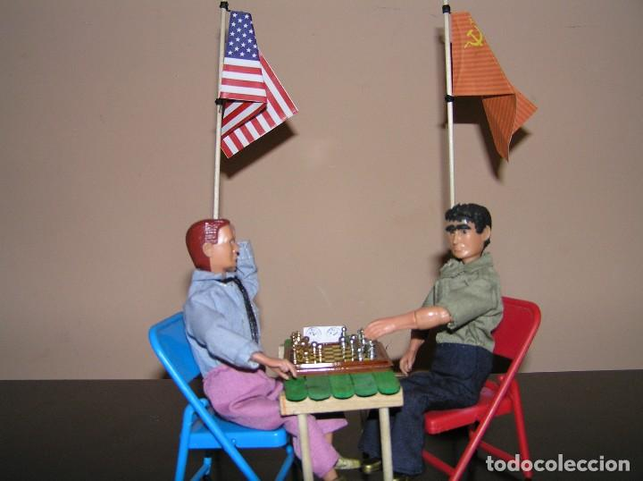 Madelman: Madelman diorama. Partida de ajedrez Spasski-Fischer. Guerra Fria. - Foto 4 - 136109778