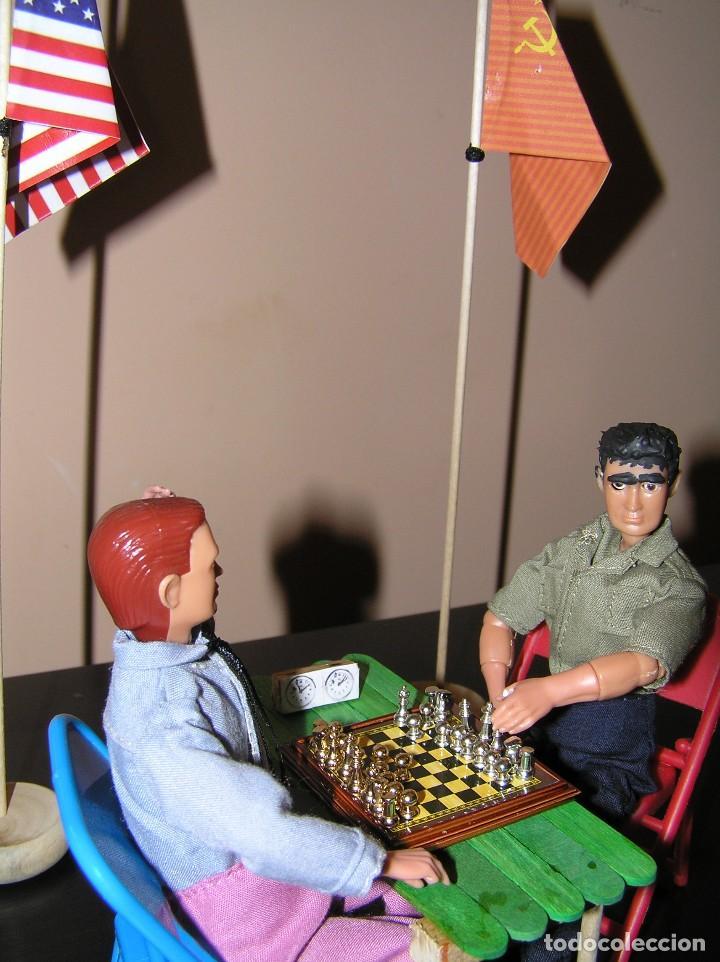 Madelman: Madelman diorama. Partida de ajedrez Spasski-Fischer. Guerra Fria. - Foto 5 - 136109778