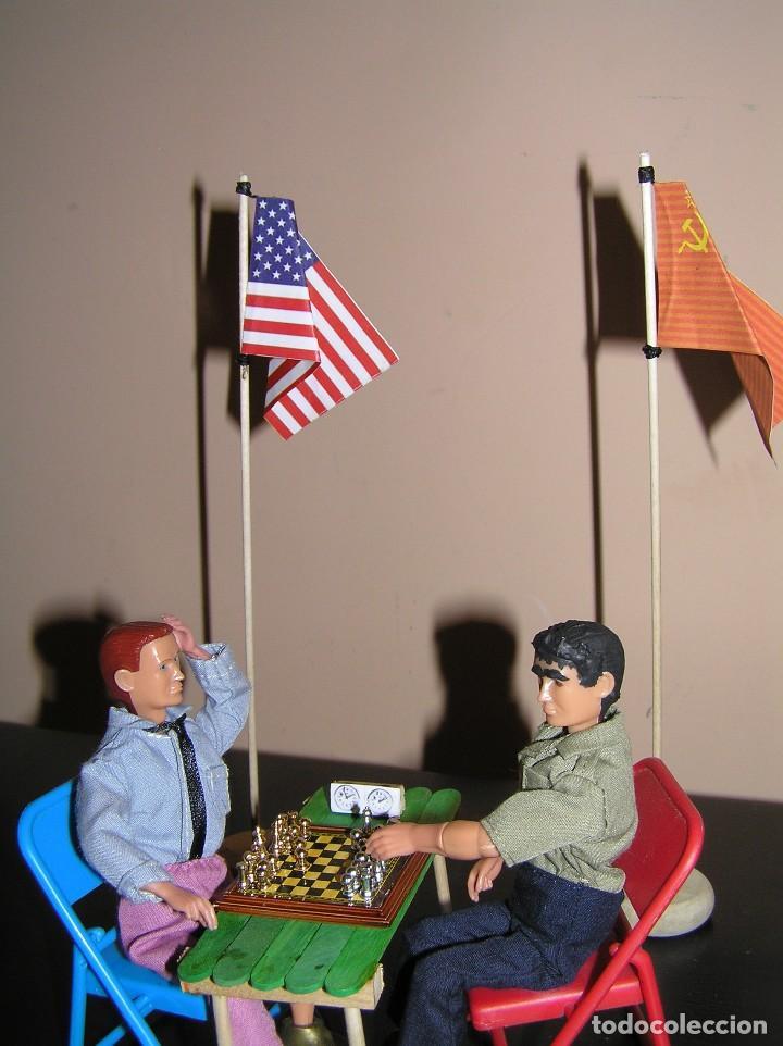 Madelman: Madelman diorama. Partida de ajedrez Spasski-Fischer. Guerra Fria. - Foto 6 - 136109778