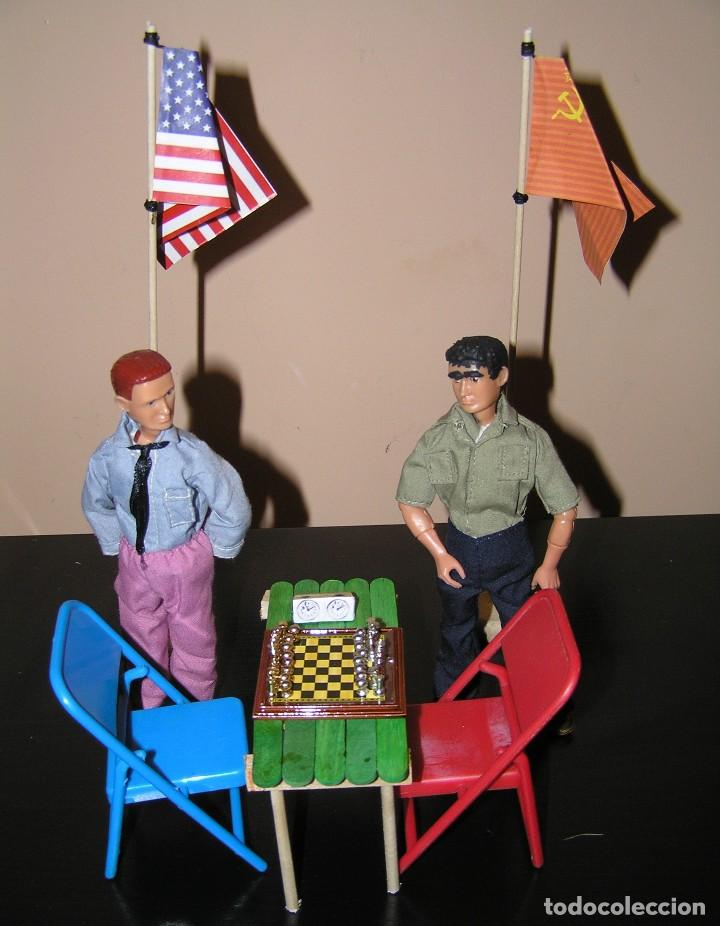 Madelman: Madelman diorama. Partida de ajedrez Spasski-Fischer. Guerra Fria. - Foto 9 - 136109778