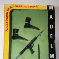 Madelman: MADELMAN ORIGINAL - CAJA AMARILLA ACCESORIOS RECONOCIMIENTO REF 2040. Lote 113270555