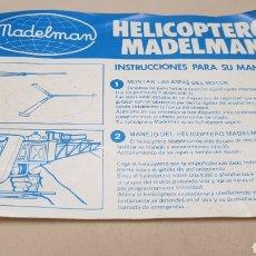 Madelman: MANUAL DE INSTRUCCIONES HELICÓPTERO MADELMAN ORIGINAL. Lote 128973436