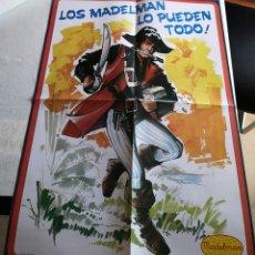 Madelman: MADELMAN REPRO POSTER CATÁLOGO -CORSARIO-. Lote 129031056