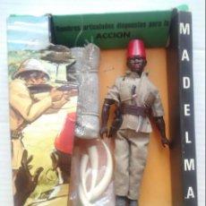 Madelman: MADELMAN ORIGINAL PORTEADOR SAFARI, CON CAJA. 1ª GENERACIÓN. REF. 1011. . Lote 130115463