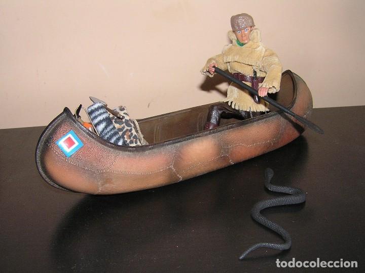 Madelman: Madelman MDE. Serie Oeste Far West. Lote explorador, cazador con canoa, serpiente y equipación - Foto 5 - 130317546