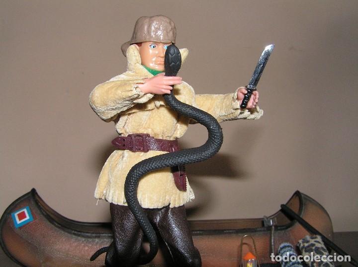 Madelman: Madelman MDE. Serie Oeste Far West. Lote explorador, cazador con canoa, serpiente y equipación - Foto 6 - 130317546