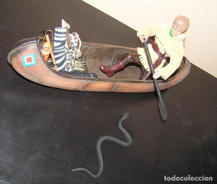 Madelman: Madelman MDE. Serie Oeste Far West. Lote explorador, cazador con canoa, serpiente y equipación - Foto 7 - 130317546