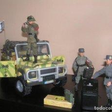 Madelman - Madelman MDE WWII Segunda Guerra Mundial. Lote Afrika Korps. Romel, jeep y soldados nazis. Histórico - 133201514