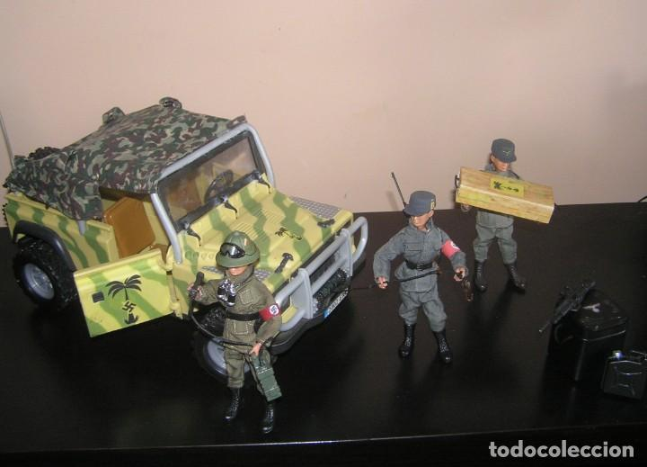 Madelman: Madelman MDE WWII Segunda Guerra Mundial. Lote Afrika Korps. Romel, jeep y soldados nazis. Histórico - Foto 2 - 133201514