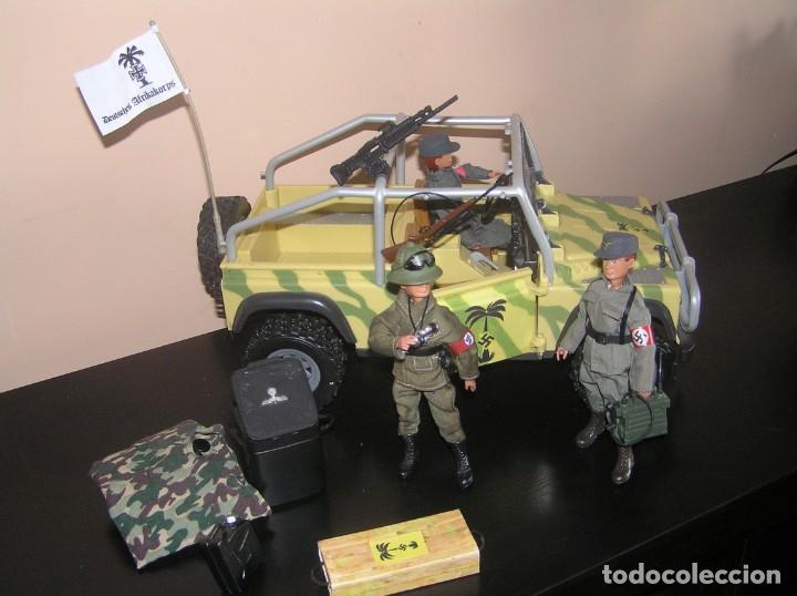 Madelman: Madelman MDE WWII Segunda Guerra Mundial. Lote Afrika Korps. Romel, jeep y soldados nazis. Histórico - Foto 9 - 133201514