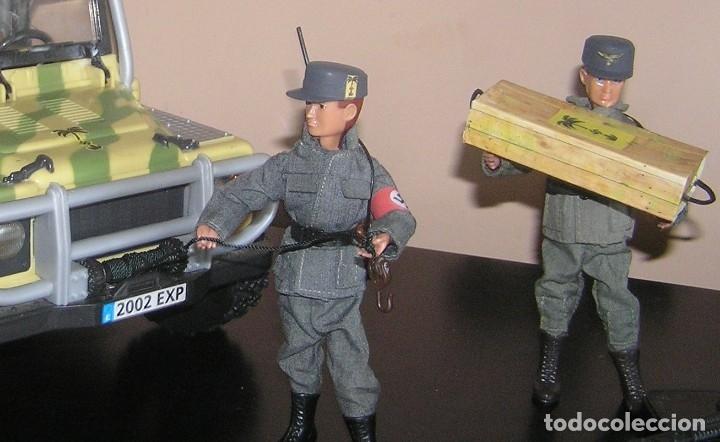 Madelman: Madelman MDE WWII Segunda Guerra Mundial. Lote Afrika Korps. Romel, jeep y soldados nazis. Histórico - Foto 7 - 133201514