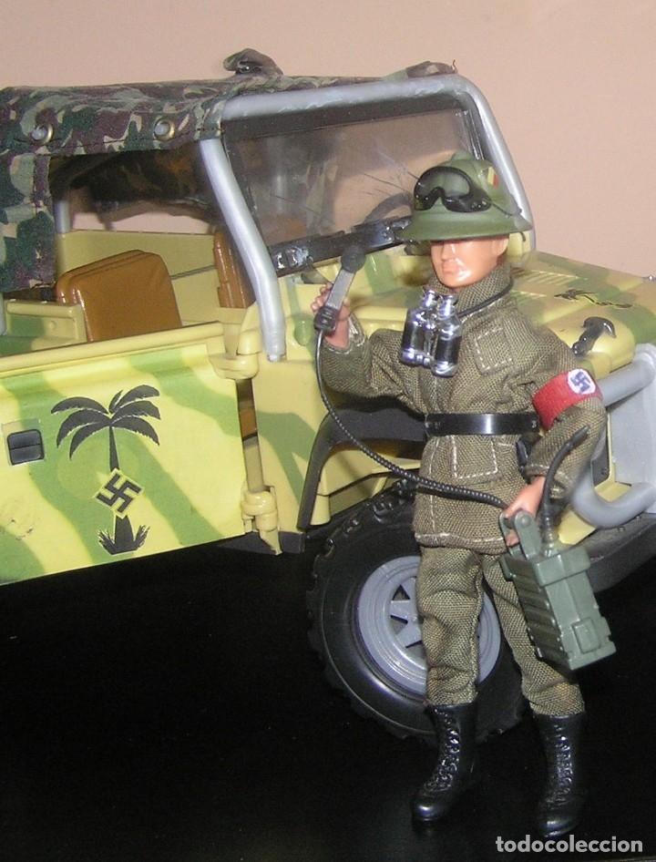 Madelman: Madelman MDE WWII Segunda Guerra Mundial. Lote Afrika Korps. Romel, jeep y soldados nazis. Histórico - Foto 3 - 133201514