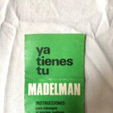 Madelman: MANUAL INSTRUCCIONES MADELMAN 1976. Lote 140091554