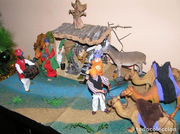 Madelman: Madelman MDE diorama. lote portal de Belén. Nacimiento de Navidad. Completo. Madelwoman. Escaparate - Foto 2 - 141834874