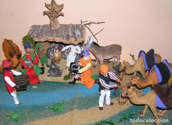 Madelman: Madelman MDE diorama. lote portal de Belén. Nacimiento de Navidad. Completo. Madelwoman. Escaparate - Foto 3 - 141834874