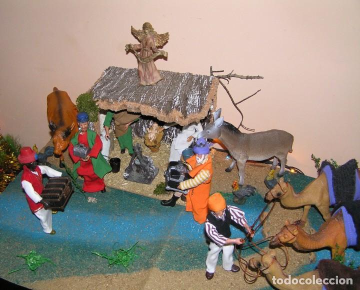 Madelman: Madelman MDE diorama. lote portal de Belén. Nacimiento de Navidad. Completo. Madelwoman. Escaparate - Foto 4 - 141834874