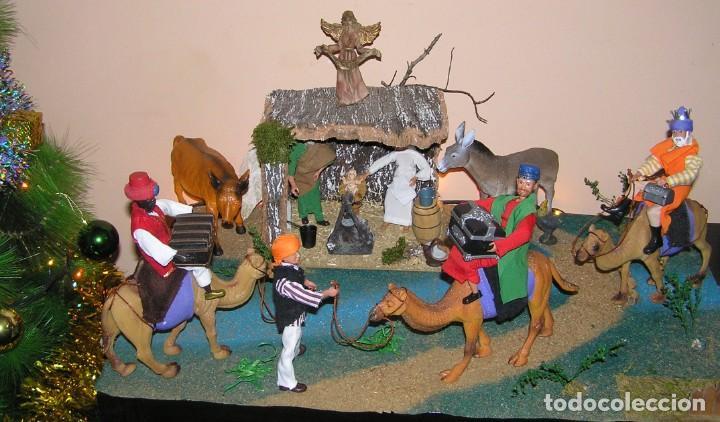 Madelman: Madelman MDE diorama. lote portal de Belén. Nacimiento de Navidad. Completo. Madelwoman. Escaparate - Foto 5 - 141834874