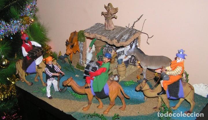Madelman: Madelman MDE diorama. lote portal de Belén. Nacimiento de Navidad. Completo. Madelwoman. Escaparate - Foto 6 - 141834874
