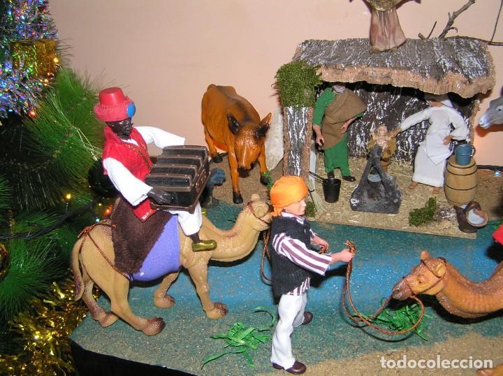Madelman: Madelman MDE diorama. lote portal de Belén. Nacimiento de Navidad. Completo. Madelwoman. Escaparate - Foto 7 - 141834874