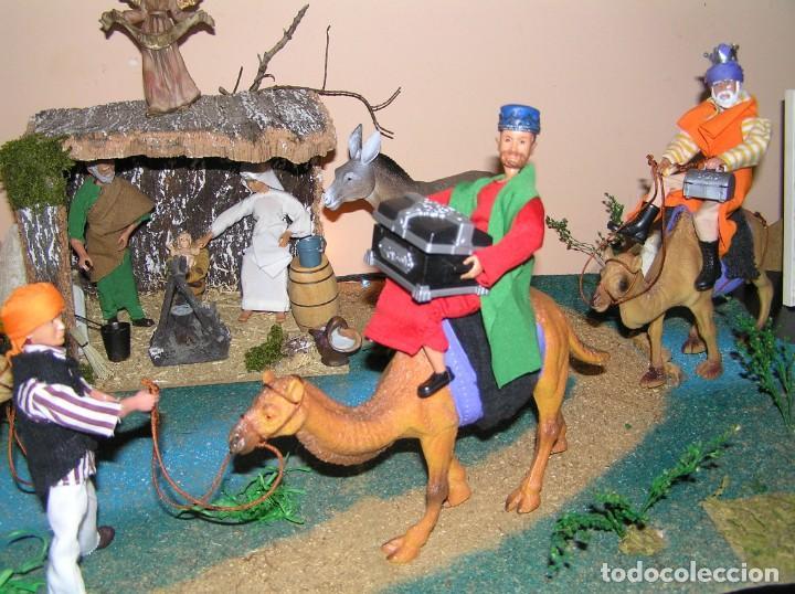 Madelman: Madelman MDE diorama. lote portal de Belén. Nacimiento de Navidad. Completo. Madelwoman. Escaparate - Foto 8 - 141834874