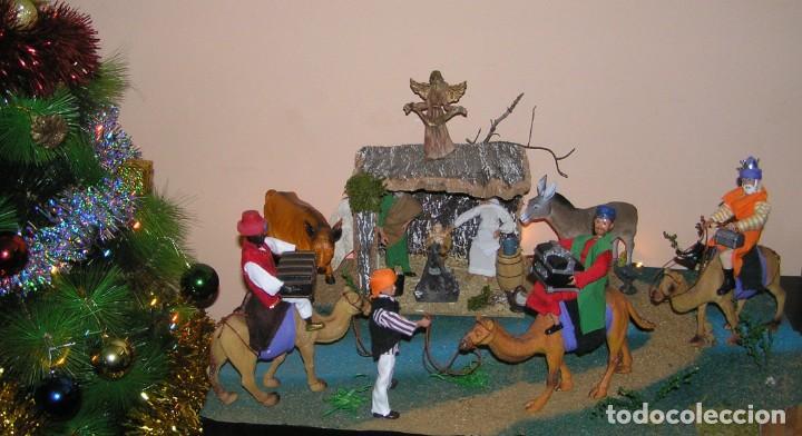 Madelman: Madelman MDE diorama. lote portal de Belén. Nacimiento de Navidad. Completo. Madelwoman. Escaparate - Foto 9 - 141834874