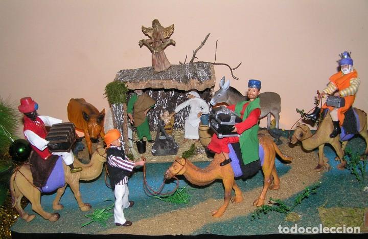 Madelman: Madelman MDE diorama. lote portal de Belén. Nacimiento de Navidad. Completo. Madelwoman. Escaparate - Foto 10 - 141834874
