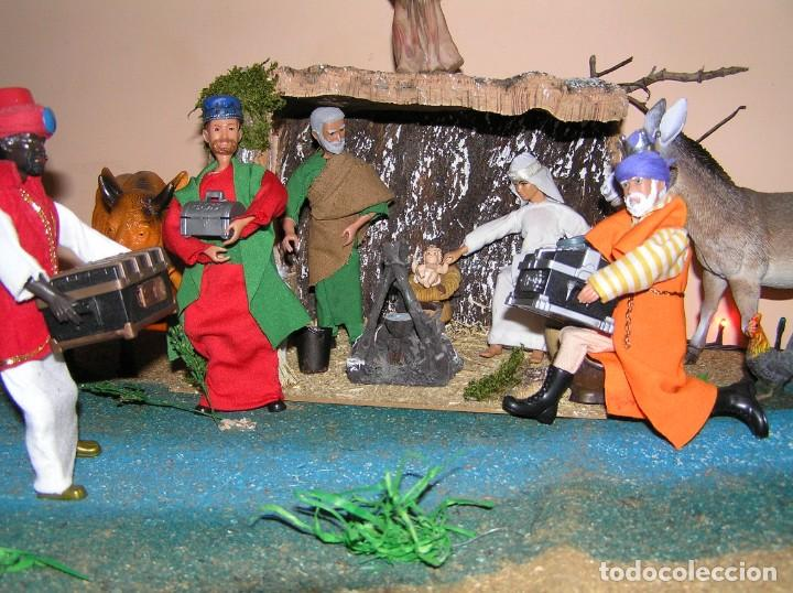Madelman: Madelman MDE diorama. lote portal de Belén. Nacimiento de Navidad. Completo. Madelwoman. Escaparate - Foto 11 - 141834874
