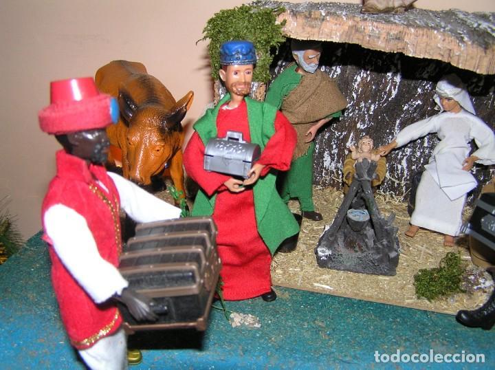 Madelman: Madelman MDE diorama. lote portal de Belén. Nacimiento de Navidad. Completo. Madelwoman. Escaparate - Foto 12 - 141834874