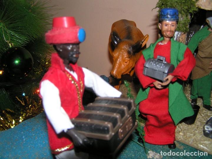Madelman: Madelman MDE diorama. lote portal de Belén. Nacimiento de Navidad. Completo. Madelwoman. Escaparate - Foto 13 - 141834874