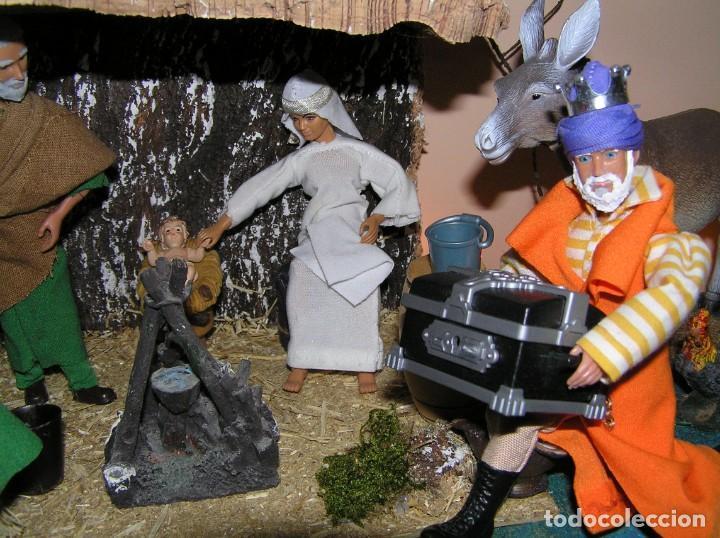 Madelman: Madelman MDE diorama. lote portal de Belén. Nacimiento de Navidad. Completo. Madelwoman. Escaparate - Foto 14 - 141834874