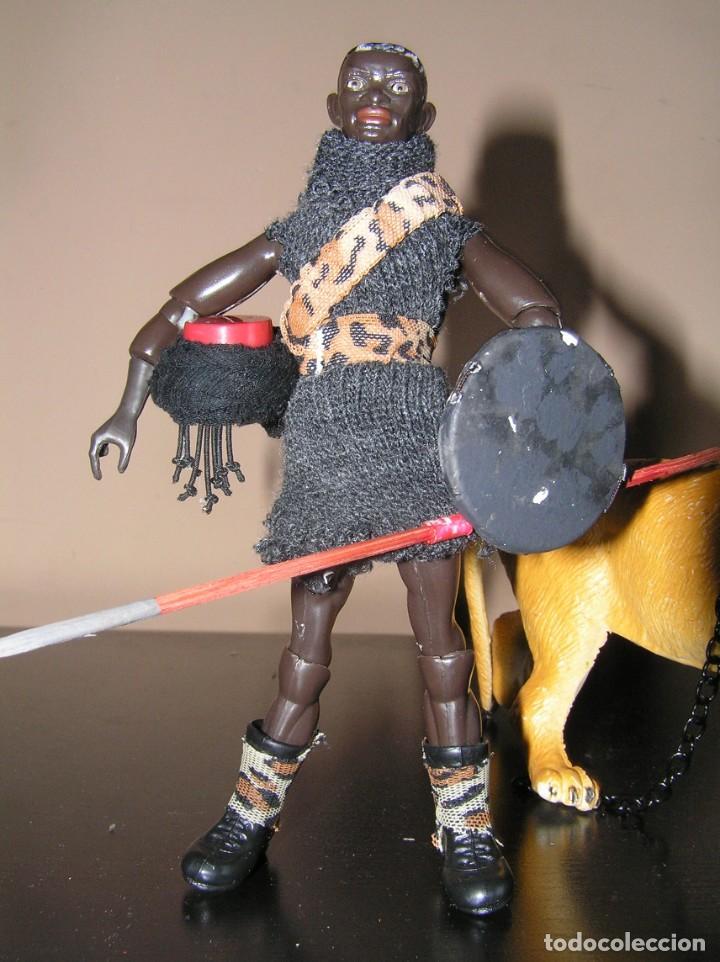 Madelman: Madelman MDE histórico. Serie Gladiadores. 11. Secutor negro con lanzas, escudo y león. MISTERIO - Foto 3 - 154765378